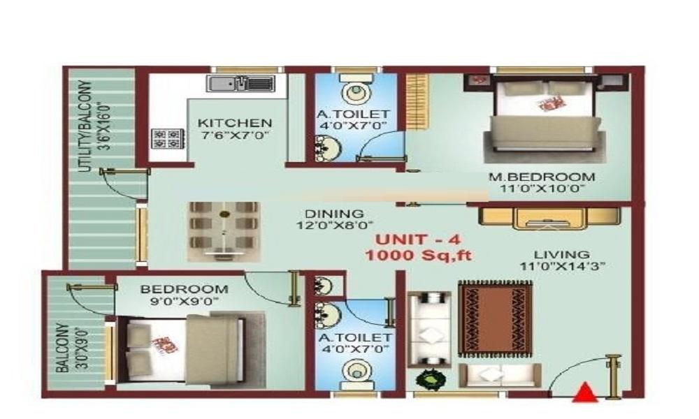 VR Nisarga Comforts Floor Plan