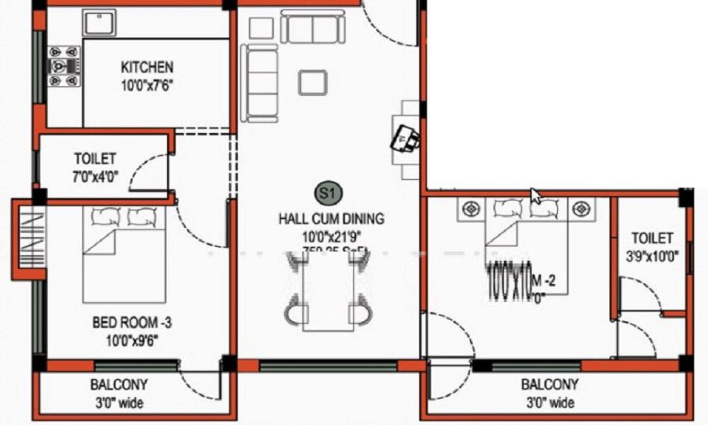 Nisarga Crown Orchid Floor Plan