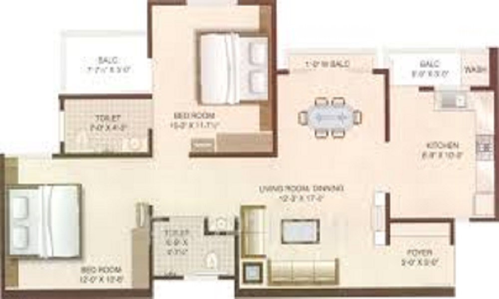 JMR Brindavan Apartments Floor Plan