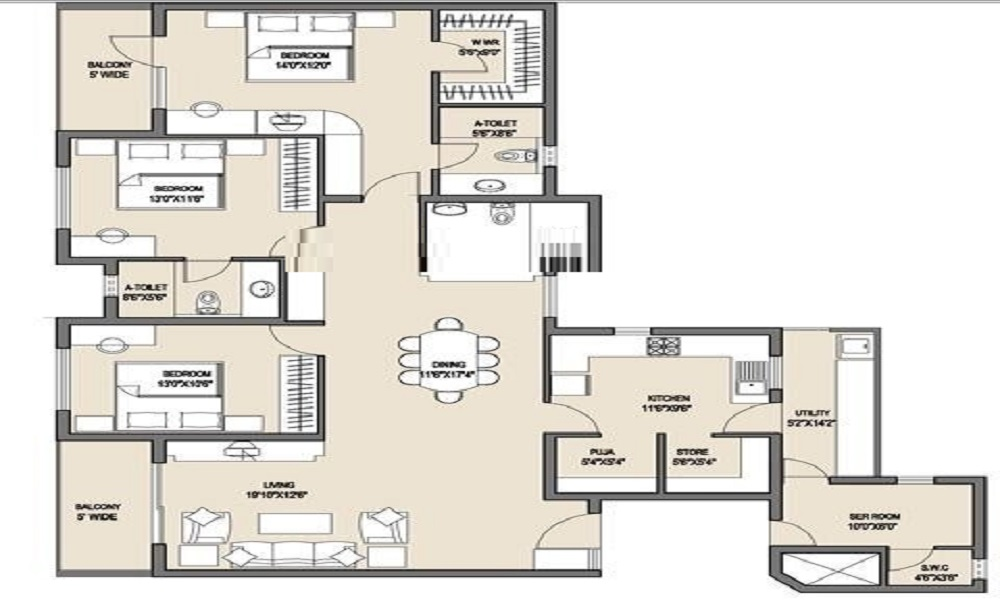 Valmark C S Pura Floor Plan