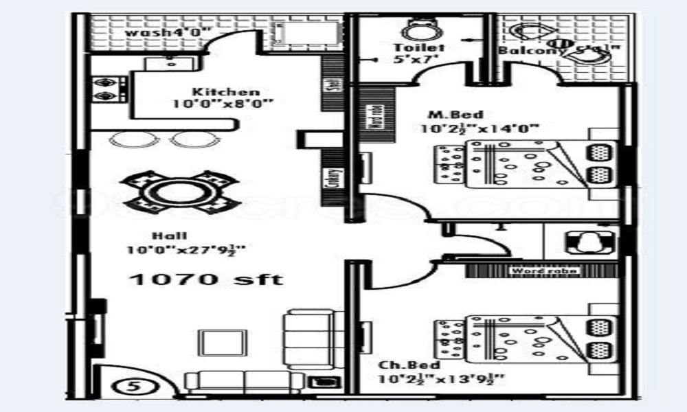 SLV Soumyasree Park View Floor Plan