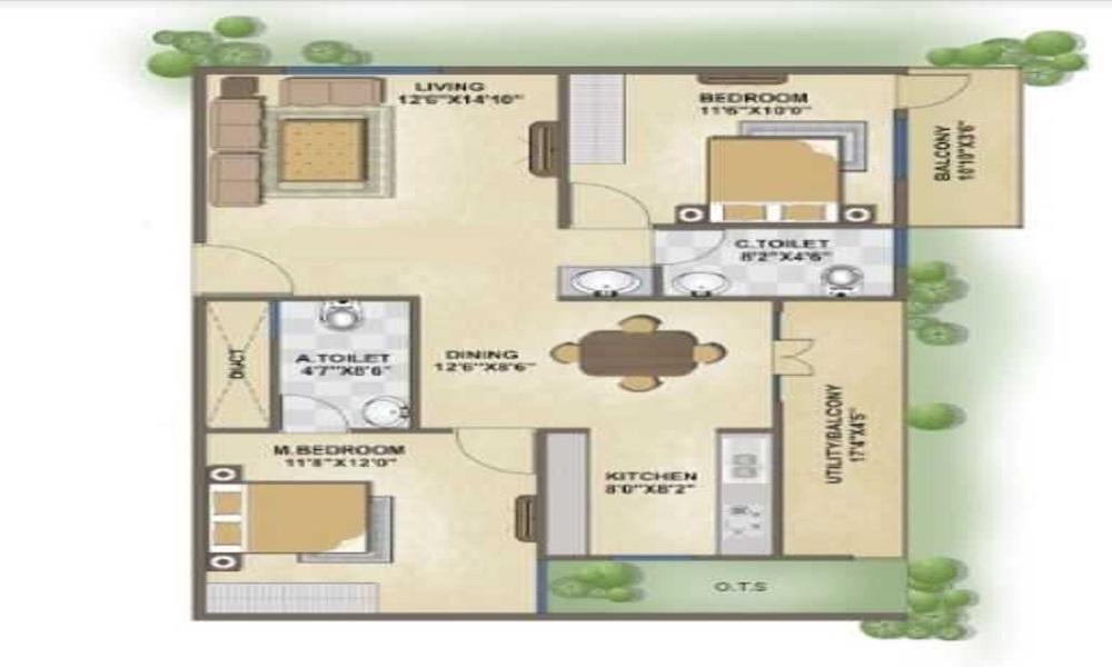 Aashrayaa Ruby Floor Plan