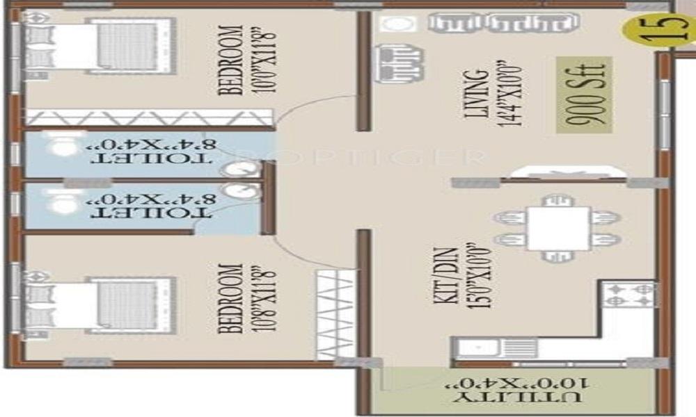 Lake View Residency Floor Plan