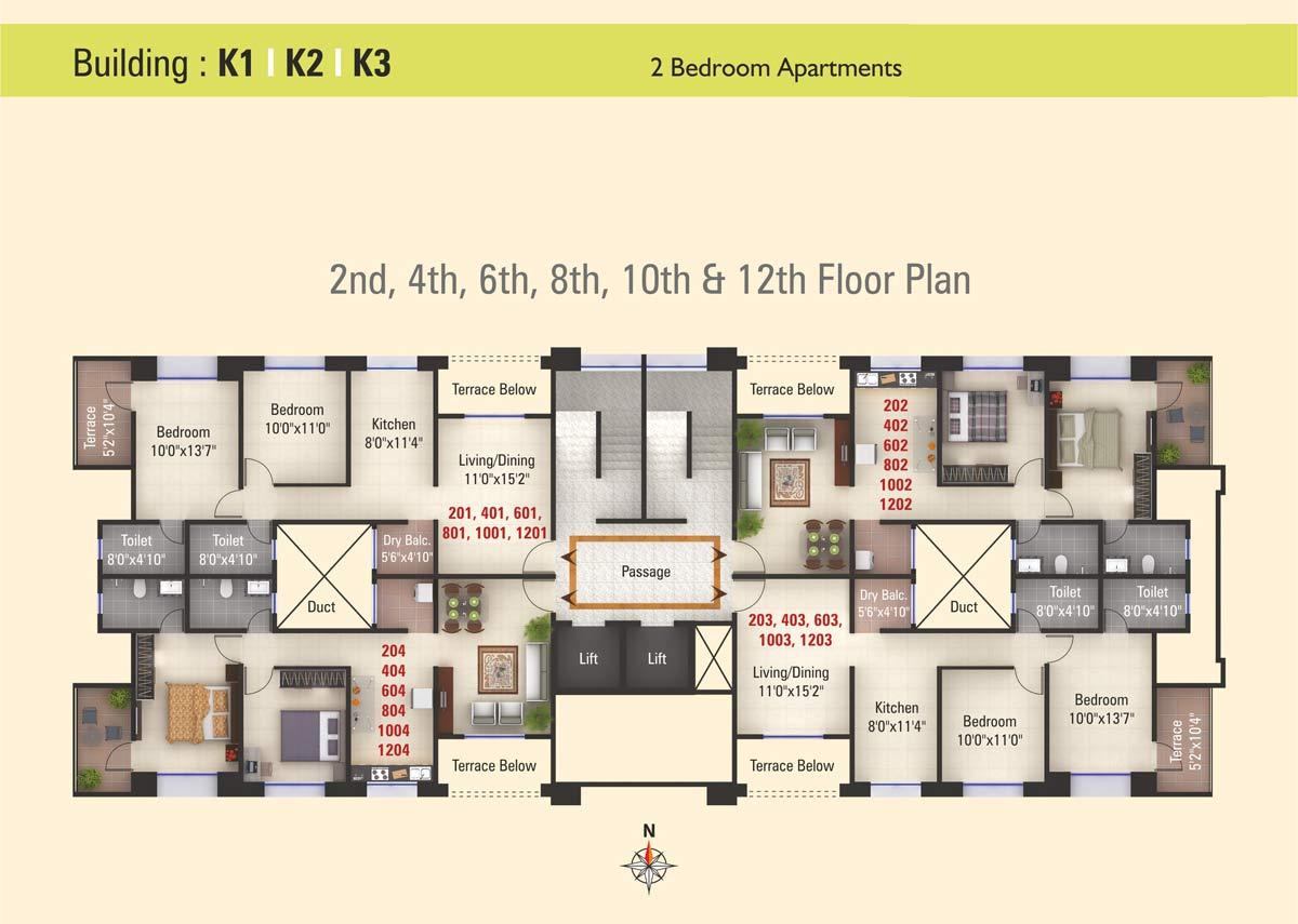 Kumar Purva Floor Plan