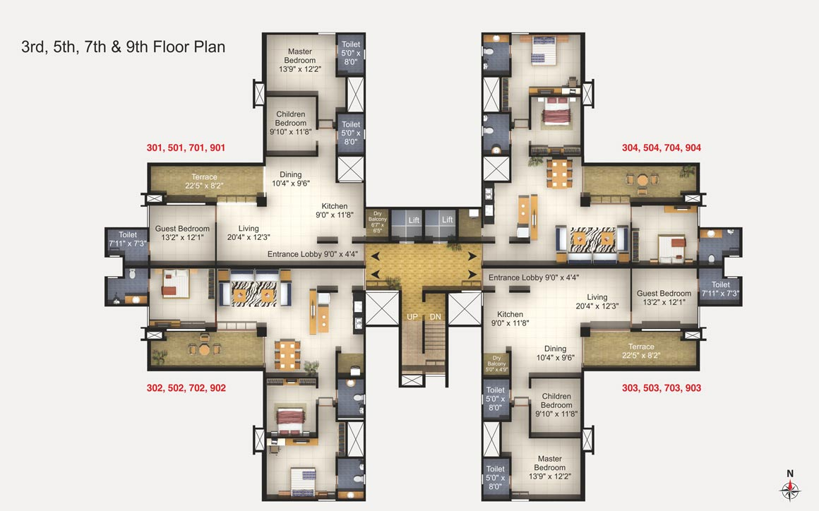 Kumar Peninsula Floor Plan