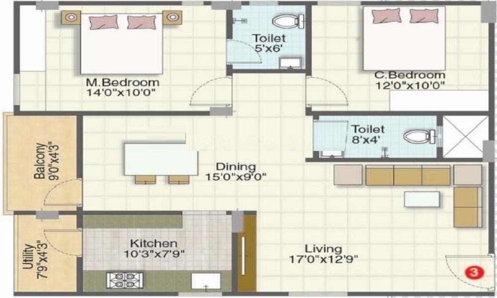 Sumadhuras Sawan MTB Floor Plan