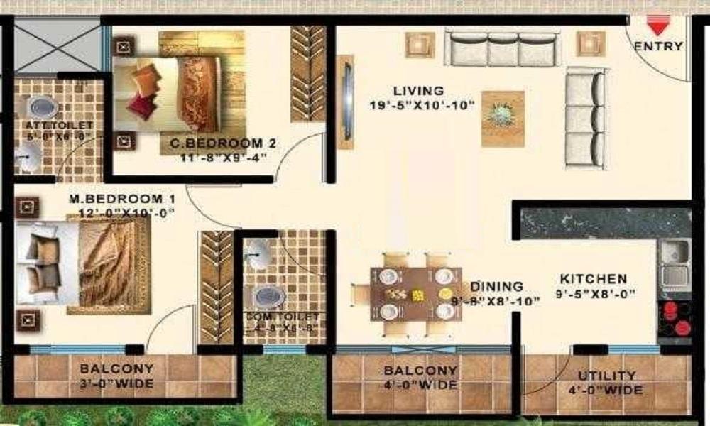 Swathi Gardenia Floor Plan