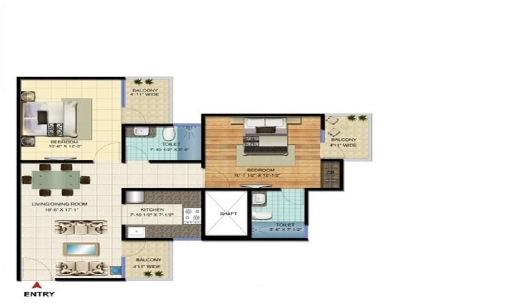Amrapali Bollywood Towers Floor Plan