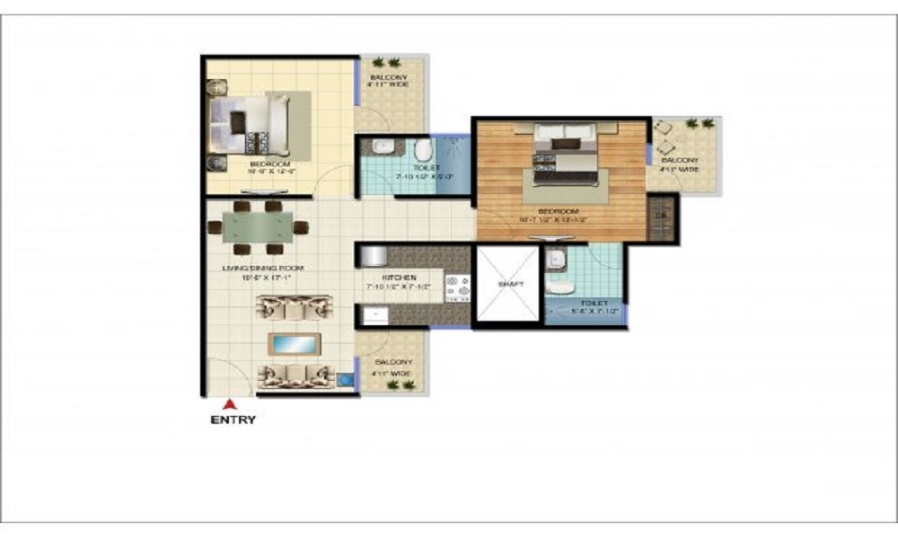 Amrapali Bollywood Towers Floor Plan