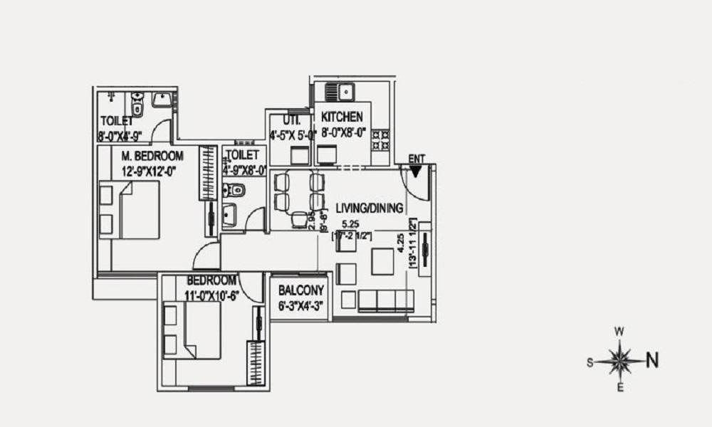 Unishire Rachenahalli Floor Plan