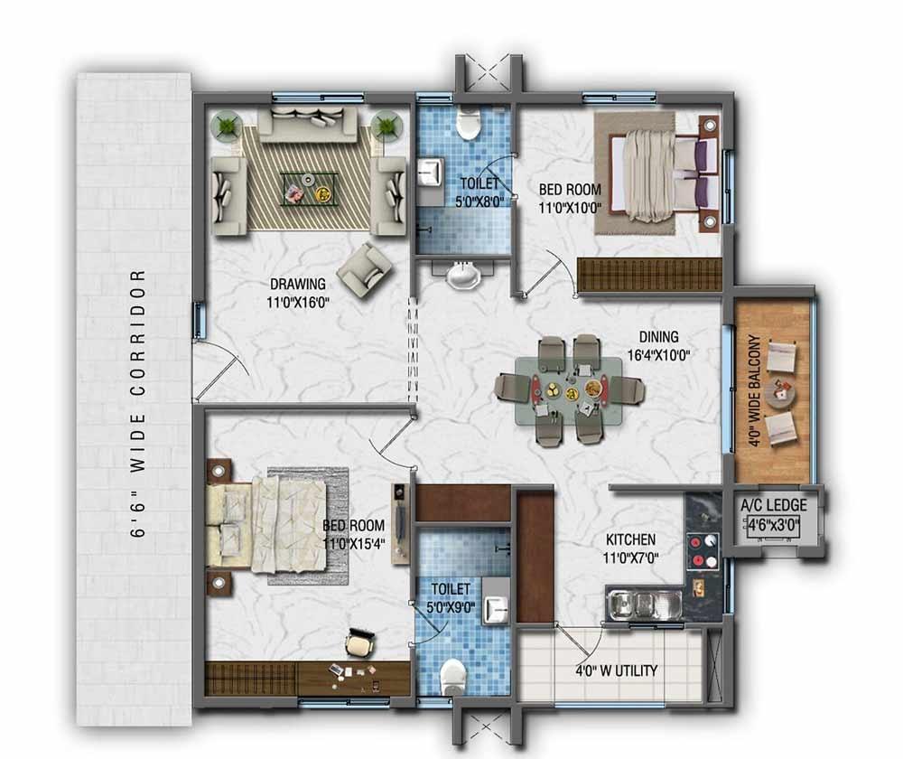 Prabhavathi Elite Floor Plan