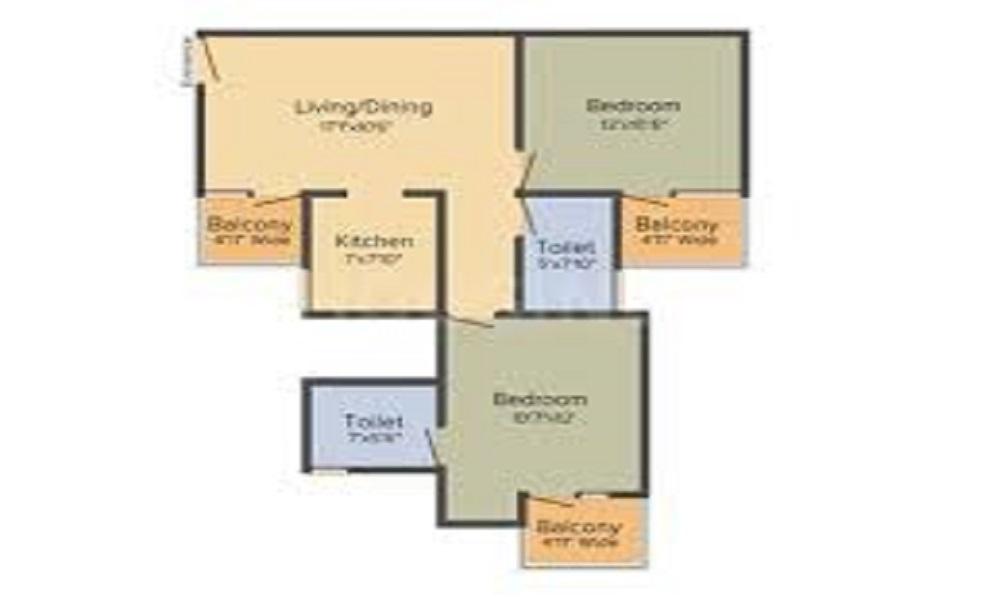 Amrapali Ivory Heights Floor Plan