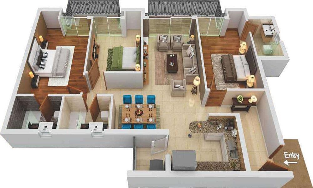 Unishire Porte Fenetre Floor Plan
