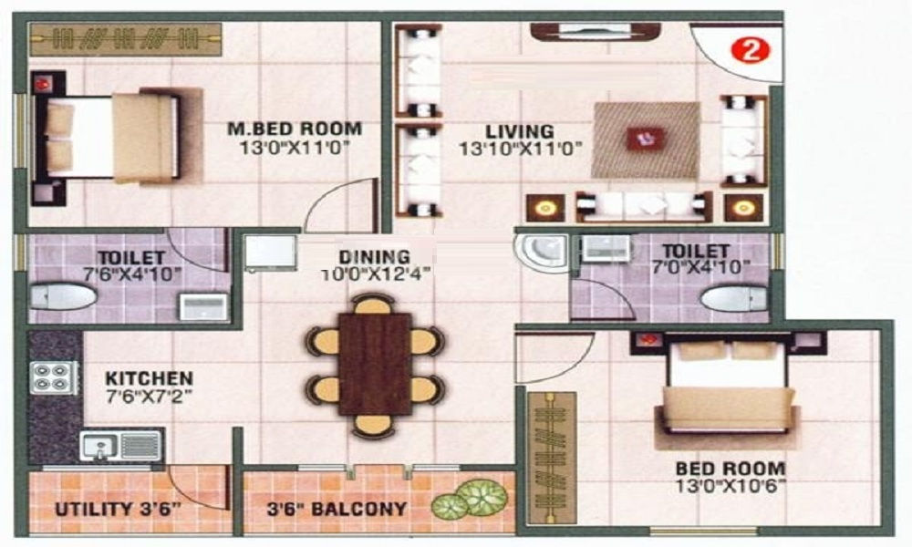 Blue Stone Royal Floor Plan