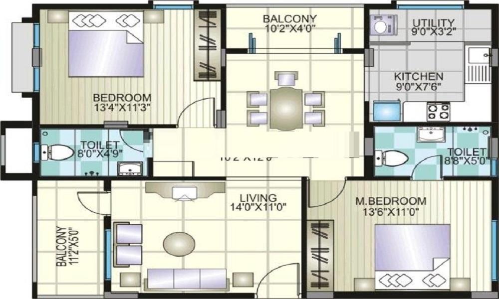 Amigo Agna Indraprastha Floor Plan