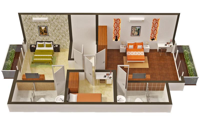 Hinduja Lake Front Estate Floor Plan