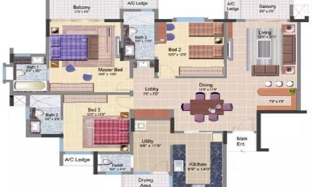 HM Cambridge Square Floor Plan