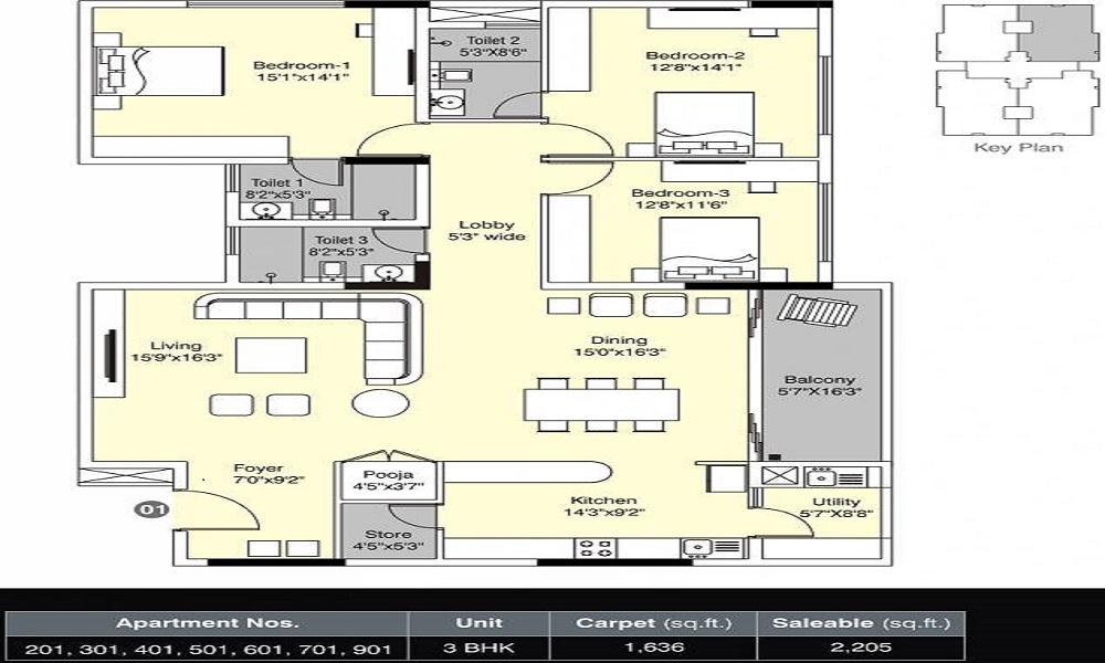 Kumar Kino Platinum Floor Plan