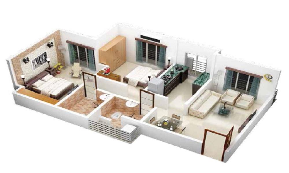 Shreedevi Devin Indira Paradise Floor Plan