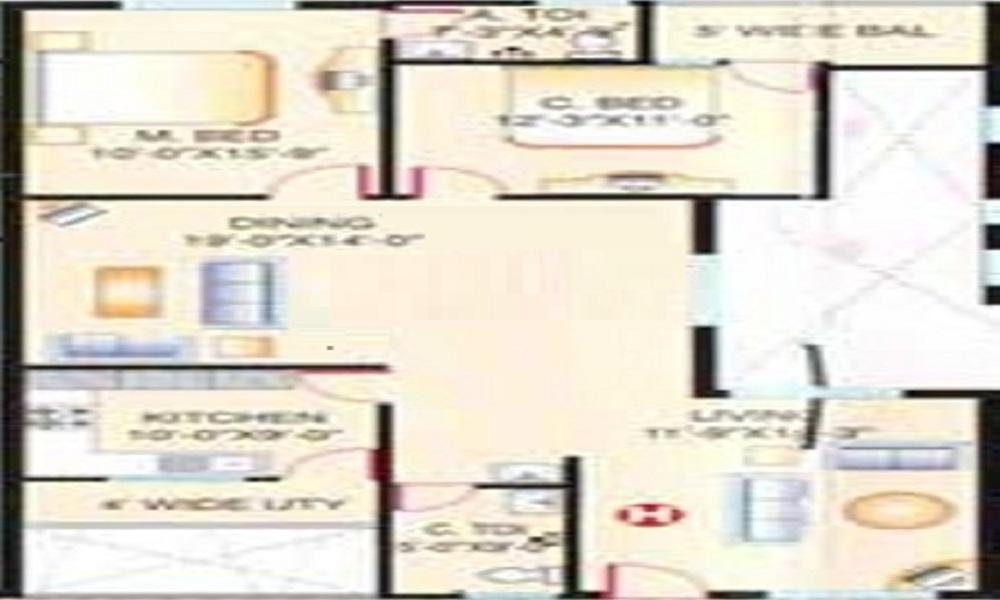 SMR Vinay Crescent Floor Plan