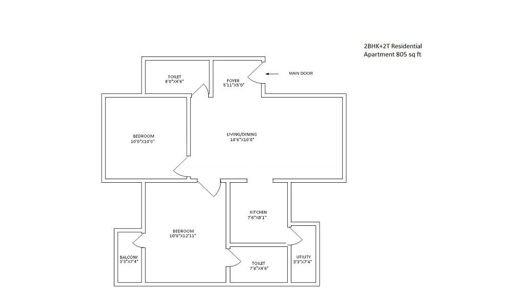 Vakil Whispering Woods Floor Plan