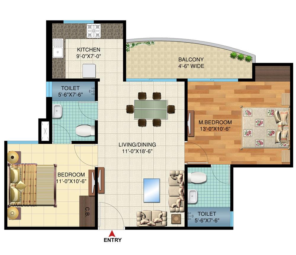 Vascon Pristina Floor Plan