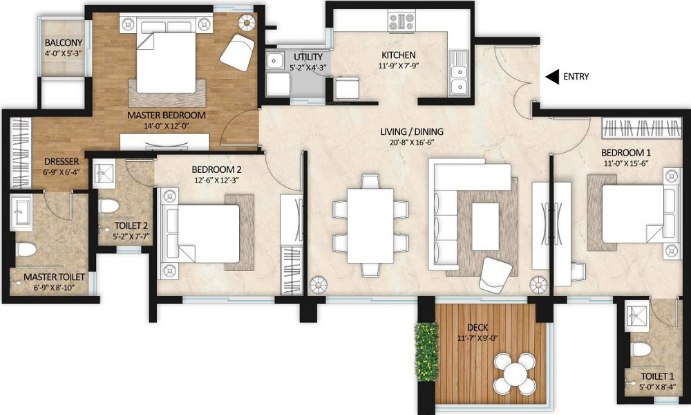 Mahindra Windchimes Floor Plan