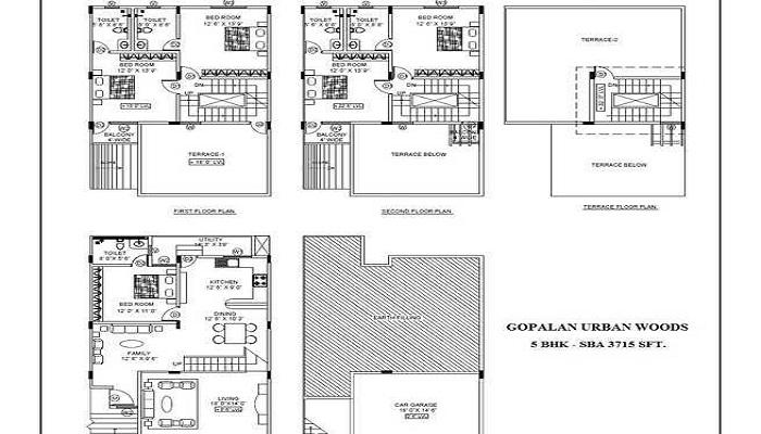 Gopalan Urban Woods Floor Plan