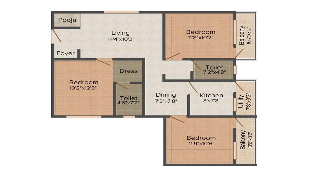 Rangashree Sai Deepam Floor Plan