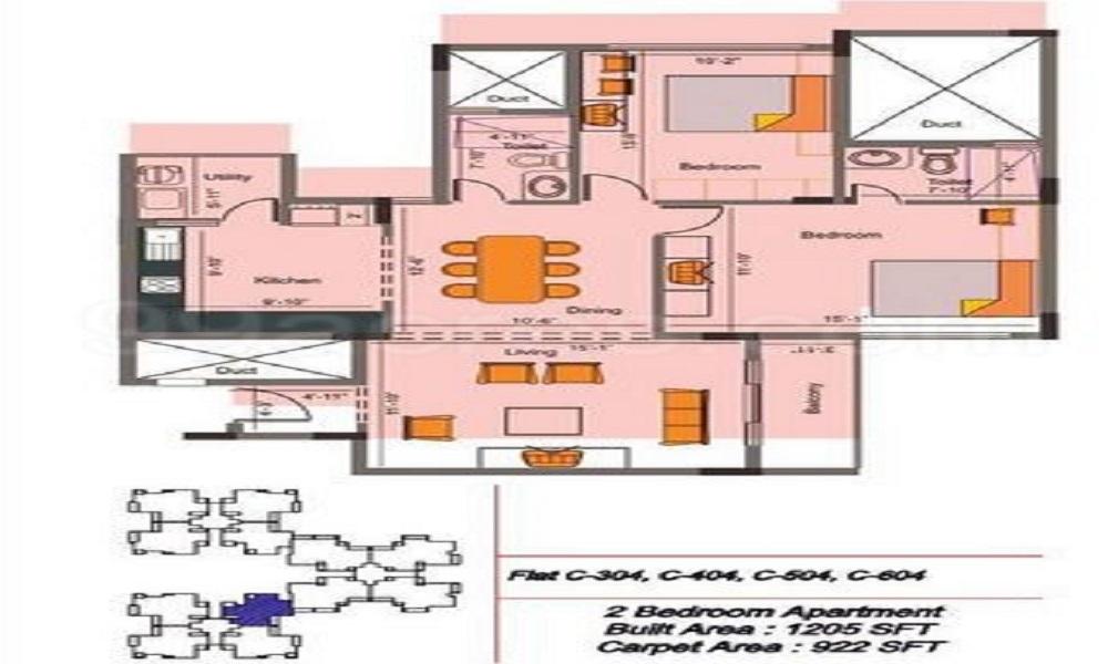 Skyline Bagmane Champagne Hills Floor Plan