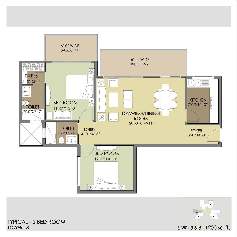 Sanjana Sapphire Floor Plan