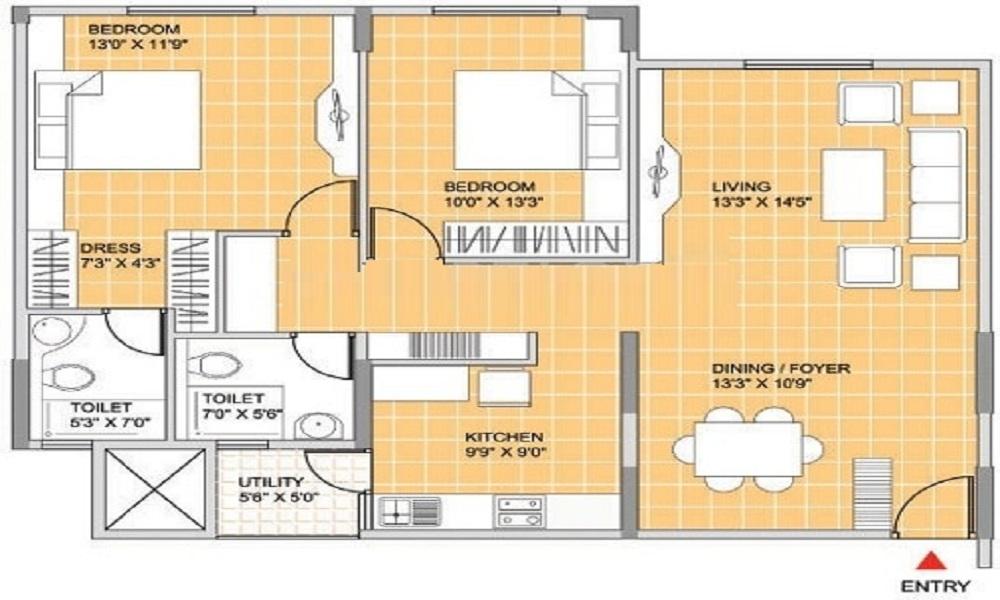 Indira Iris Apartments Floor Plan