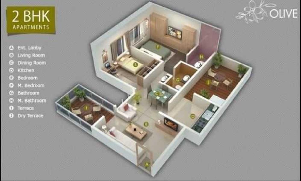 Blue Skky Olive Phase 2 Floor Plan