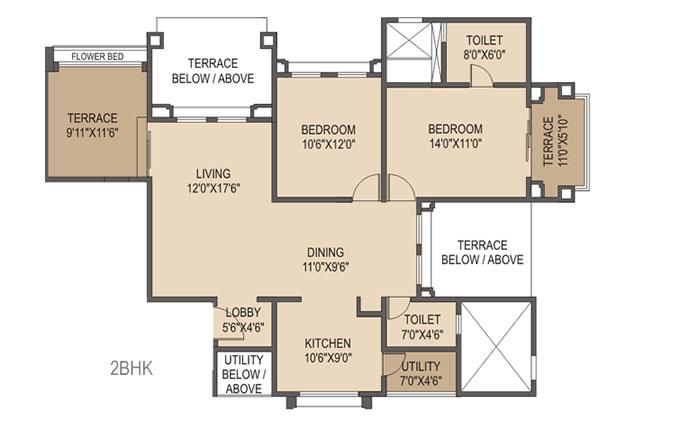 Rohan Ishita Floor Plan