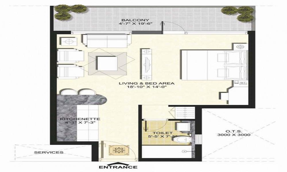 Unnati Fortune Vesta Suites Floor Plan