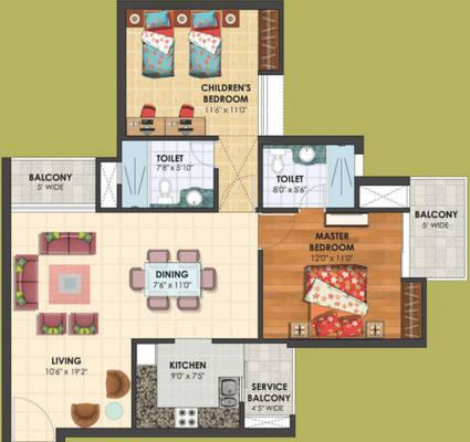 Mahaveer Solitaire Homes Floor Plan