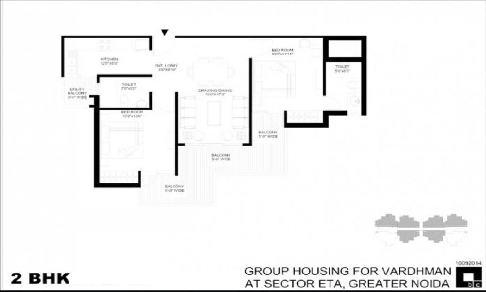 Vardhman Eta Residency Floor Plan