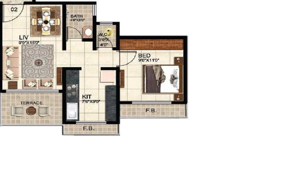 OSSK Sai Sarvesh Floor Plan