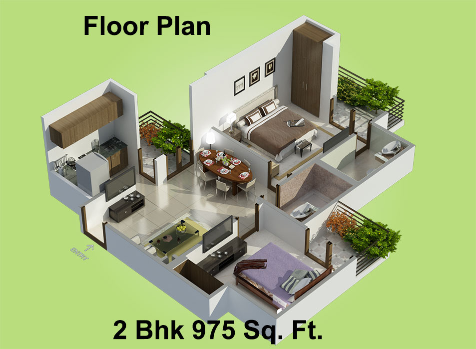 Betterhomes Reliance Residency Floor Plan