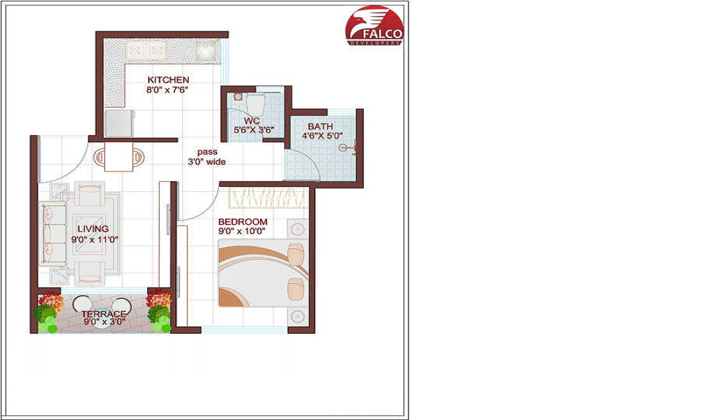 Falco River County Floor Plan