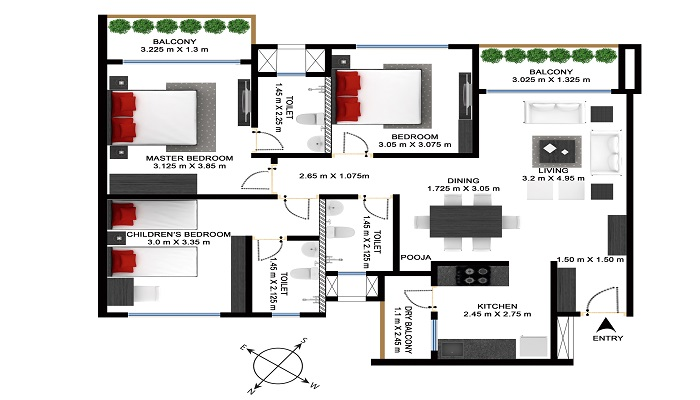 Godrej Bayview Floor Plan