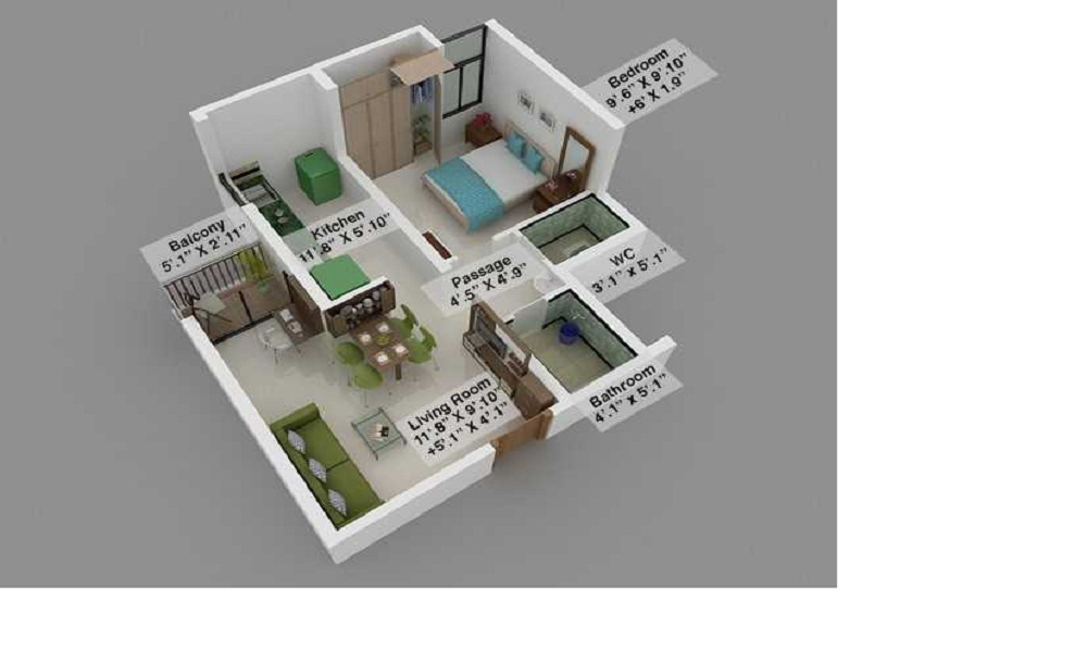 Mahindra Lifespaces Happinest Floor Plan