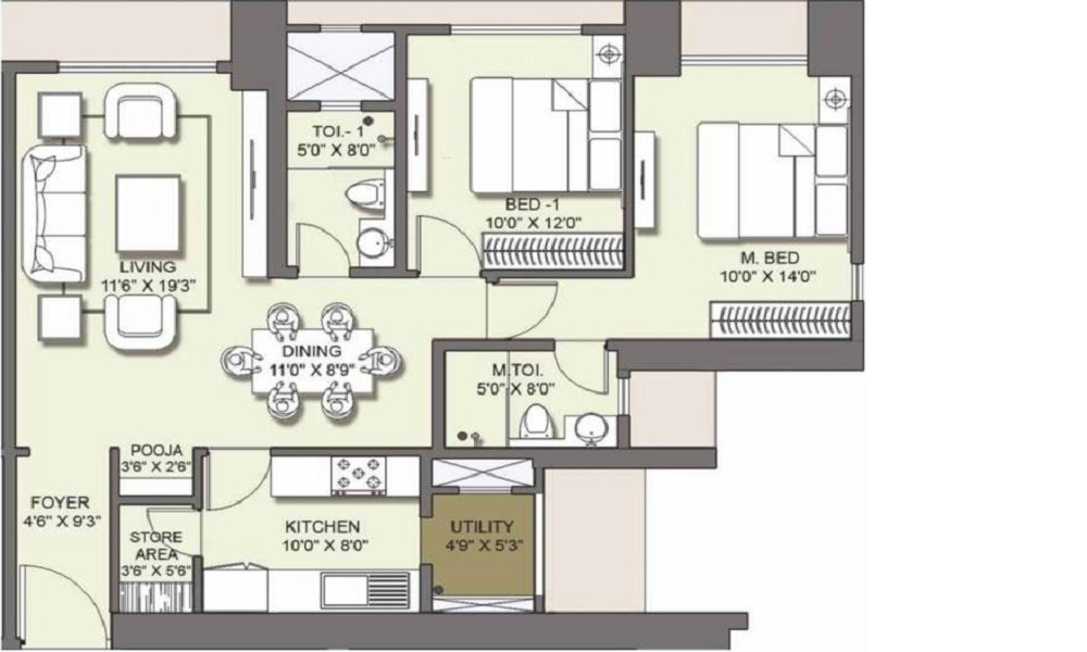 Lodha Venezia Floor Plan