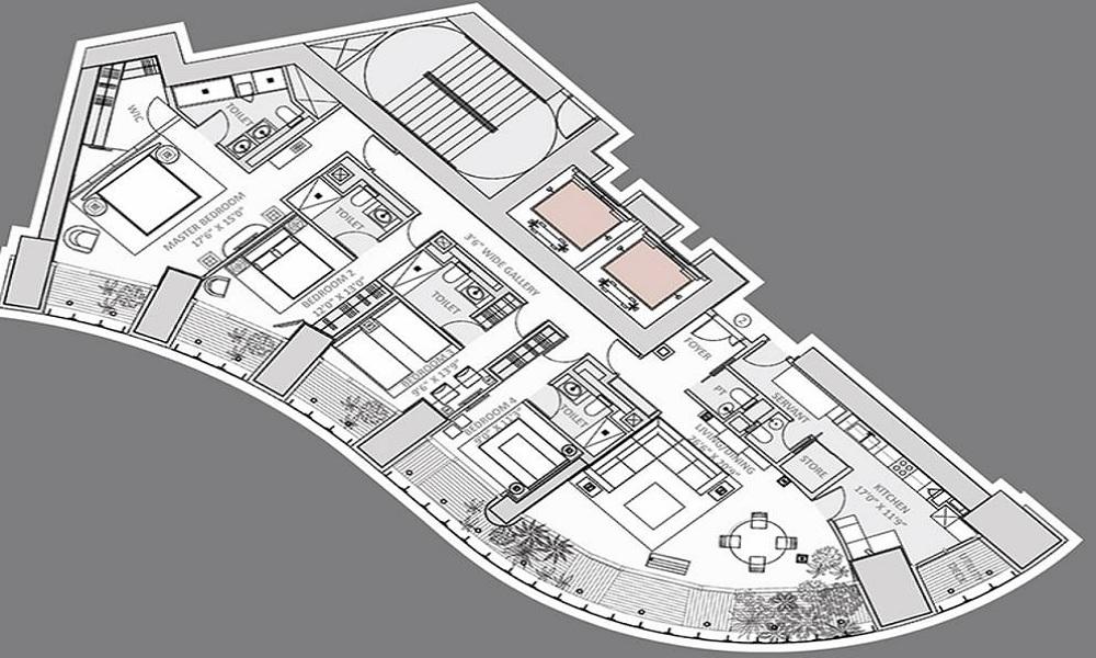 Lodha One Floor Plan