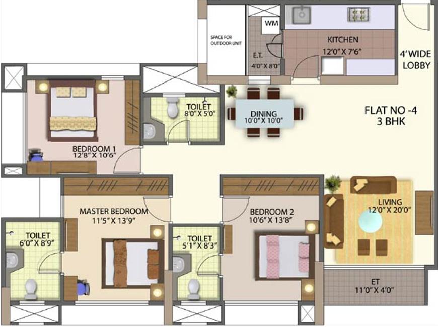 Mahindra Great Eastern Gardens Floor Plan