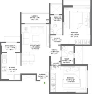 Godrej Central Floor Plan