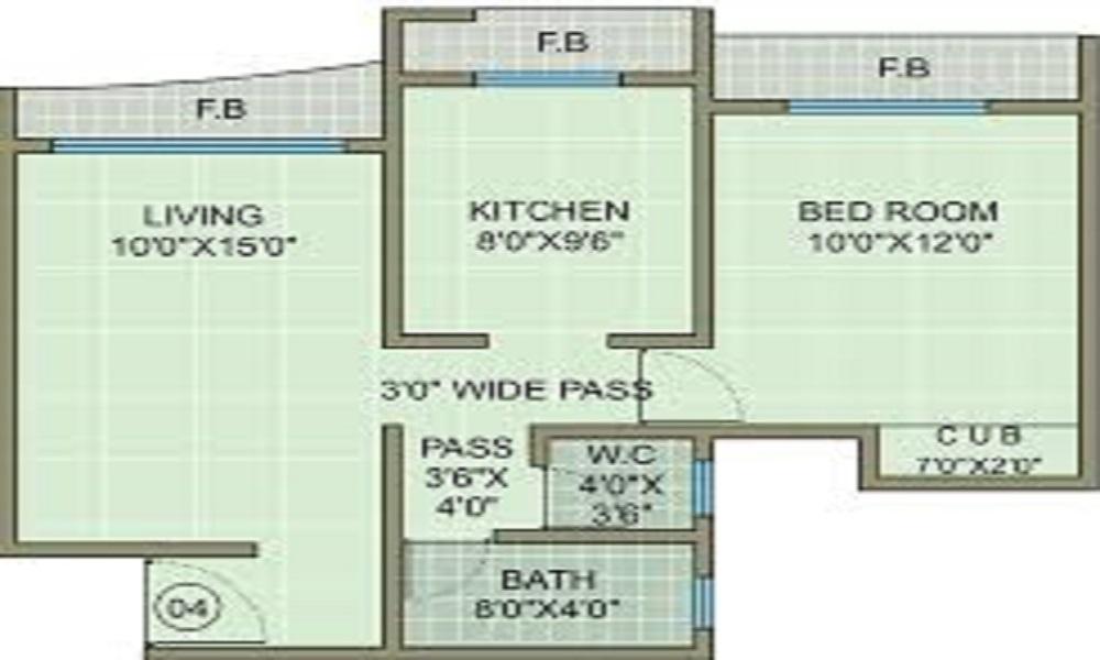 Ashirwad Shreepati Residency Floor Plan