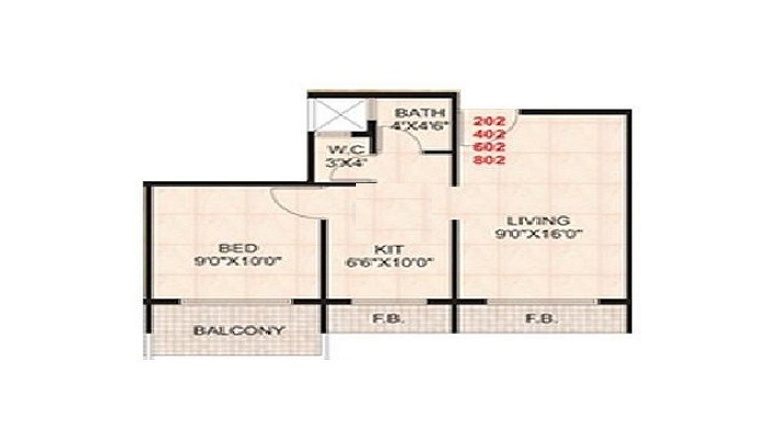 SR Goodluck Heights Floor Plan
