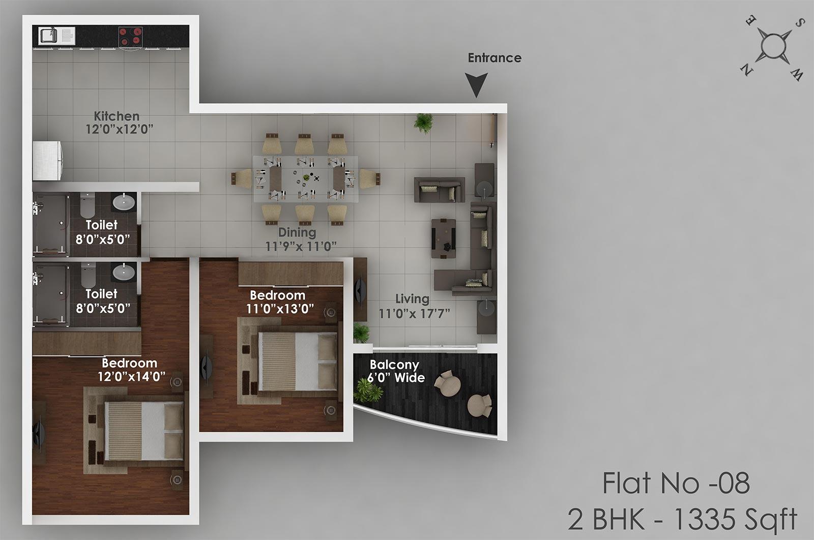 Amann Akansha Heights Floor Plan