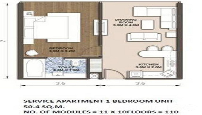 Assotech Sandal Suites Floor Plan